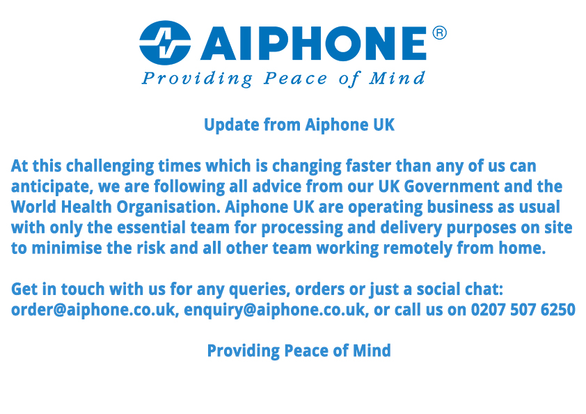 COVID-19 - Aiphone UK
